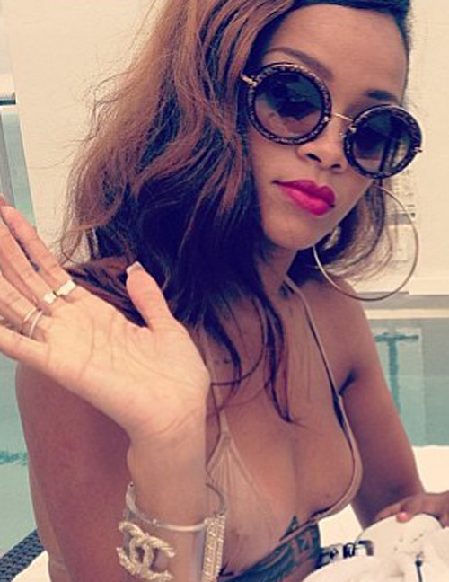 Rihanna is seriously chill as she causes a storm on instagram
