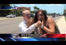 VIDEO: What did the female passer by say live on air to shocked reporter?